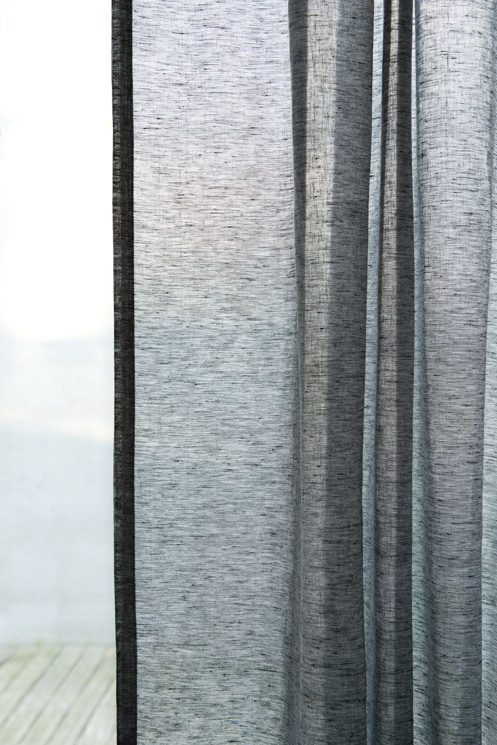 Photo of the fabric Allusion Pearl in situ by Zepel. Use for Sheer Curtains. Style of Plain, Sheer