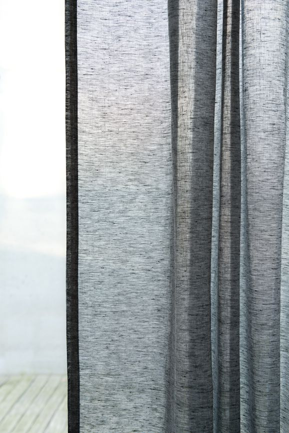 Photo of the fabric Allusion Marzipan in situ by Zepel. Use for Sheer Curtains. Style of Plain, Sheer