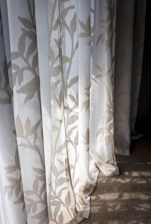 Photo of the fabric Season* Calm in situ by James Dunlop. Use for Curtains. Style of Floral And Botannical, Pattern