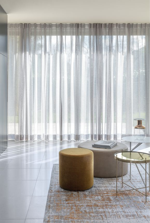 Photo of the fabric Antipodes Mineral in situ by James Dunlop. Use for Sheer Curtains. Style of Plain, Sheer