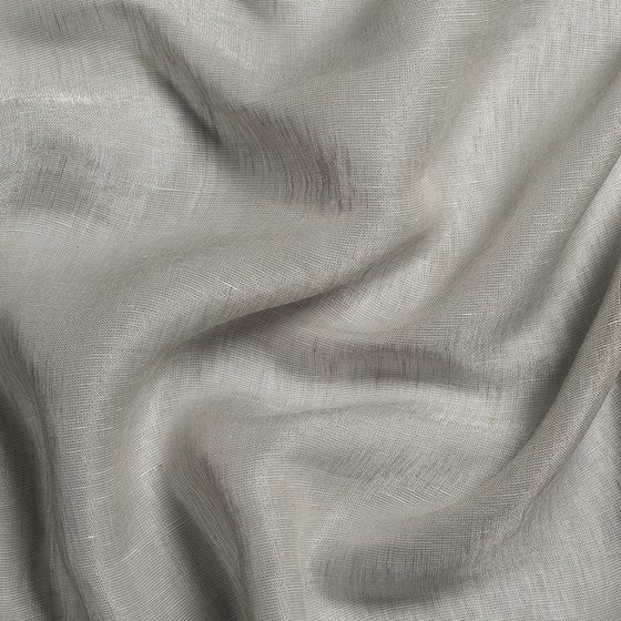 Photo of the fabric Enso Dove Grey swatch by Mokum. Use for Sheer Curtains. Style of Plain, Sheer