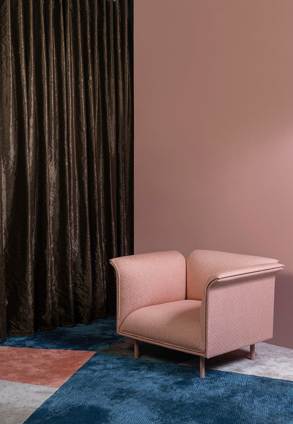 Photo of the fabric Couture * Dove in situ by Mokum. Use for Curtains, Accessory. Style of Plain