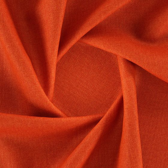 Photo of the fabric Linex Pumpkin swatch by Zepel. Use for Curtains, Upholstery Medium Duty, Accessory, Top of Bed. Style of Plain, Texture