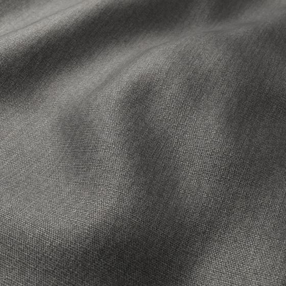 Photo of the fabric Linex Charcoal swatch by Zepel. Use for Curtains, Upholstery Medium Duty, Accessory, Top of Bed. Style of Plain, Texture