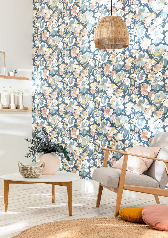 Photo of the fabric July Wallpaper 10187 10187 10 90 in situ by James Dunlop. Use for Wall Covering. Style of Abstract, Decorative, Floral And Botannical, Pattern