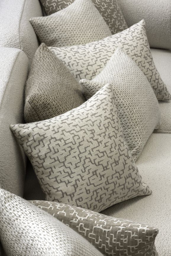 Photo of the fabric Saba Linen in situ by Mokum. Use for Accessory. Style of Abstract, Pattern, Texture